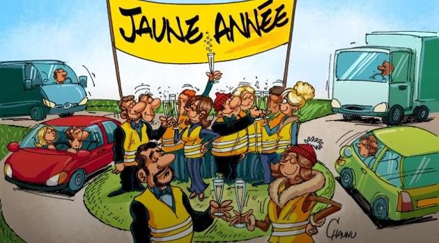 JAUNE ET HEUREUSE ANNÉE 2019 !